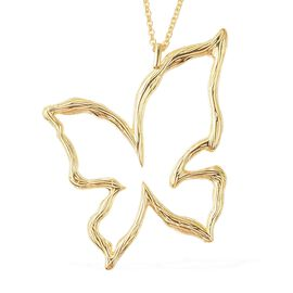 Isabella Liu Butterfly Reborn Collection Pendant with Chain in Gold Plated Silver 30 Inch