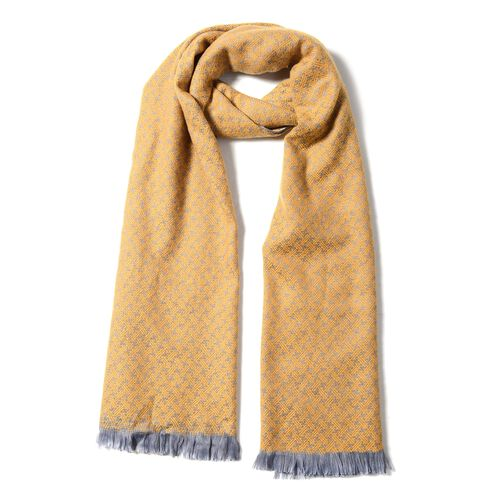 Yellow Colour Chequer Pattern Scarf (Size 180x65 Cm)