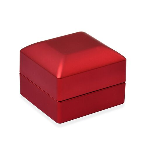 Solid Red Colour Led Light Ring Box (Size 6.3x6x5 Cm)