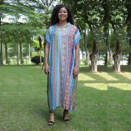 TAMSY 100% Viscose Womens Stripe Pattern Dress (Size:80x130Cm) - Multi