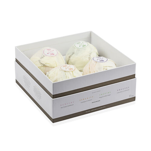 AromaWorks: Gift Box Quad Box (Incl. AromaBombs- Nurture, Serenity, Inspire & Soulful)