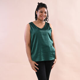 JOVIE Solid Colour Satin Vest (Size up to 18; 56x68cm) - Green