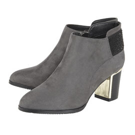 Lotus Beth Heeled Ankle Boots - Grey