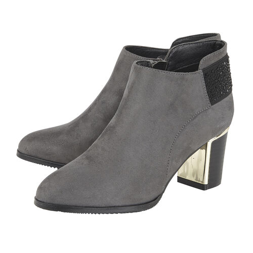 Lotus Beth Heeled Ankle Boots (Size 8) - Grey
