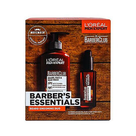 LOreal Barbers Essentials (Incld. BarberClub Beard, Face and Hair Wash - 200ml, BarberClub Beard and