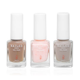 Nailed London: Rosie Fortescue Gel Polish - Sugar Lips, Dirty Blonde and Noodle Nude - 10ml