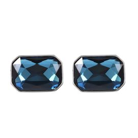 WILLIAM HUNT One Time Deal- Simulated London Blue Topaz (Oct) Cufflink in Silver Plated
