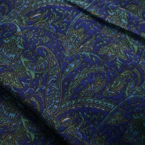 Blue, Green and Multi Colour Jamawar Pattern Long Kaftan (Free Size)