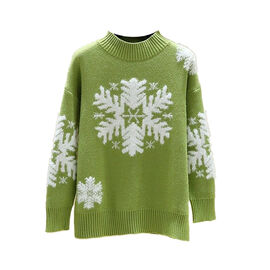 Kris Ana Christmas Snowflake Jumper One Size (8-16) - Lime
