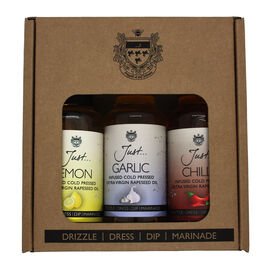Just Oil 3x100ml Gift Pack (Chilli,Lemon,Garlic)