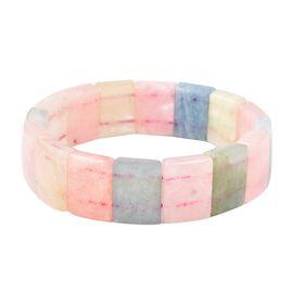 Extremely Rare Shape Multi Beryl Stretchable Bracelet Size 7 Inch