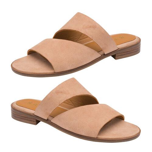 Ravel Paxton Suede Mule Sandals (Size 3) - Blush