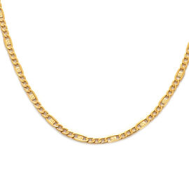 Italian Made 9K Yellow Gold Figaro Necklace (Size 18)