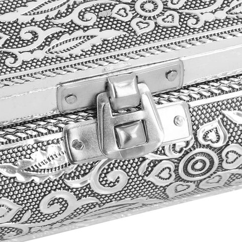 3D Embossed Collection Handcrafted Oxidised Book Shaped Jewellery Box with Elephant Design (Size: 27.9x21.6 Cm)