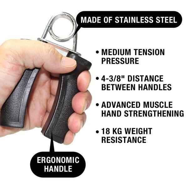 Hand Grips, Black, Heavy Tension 40lb