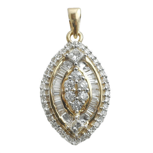 Signature Collection ILIANA 18K Yellow Gold IGI Certified Diamond (GH SI to I1) Pendant 0.500 Ct.