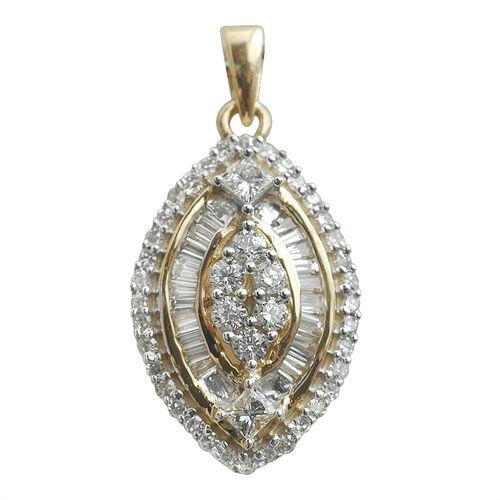 Signature Collection ILIANA 18K Yellow Gold IGI Certified Diamond (GH SI to I1) Pendant 0.500 Ct.