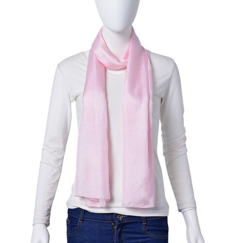 100% Mulberry Silk Ballet Slipper Colour Scarf (Size 175X90 Cm)