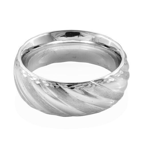 Premium Collection Royal Bali Collection 9K White Gold Band Ring Gold Wt 2.53 Gms