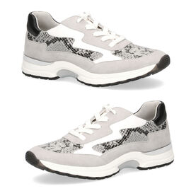 CAPRICE Snakeskin Pattern Sneaker Shoes  (Size 3.5 ) - Grey