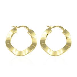 JCK Vegas Hoop Earrings in 9K Yellow Gold