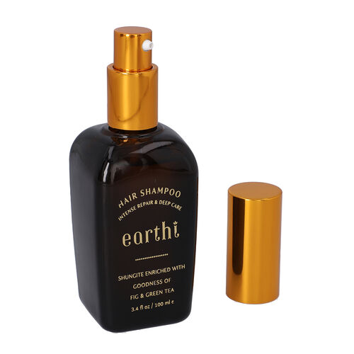 Shungite Enriched Earthi Green Tea and Fig Shampoo  with complementary Amla and Reetha Purifying Hair Conditioner (100ml+50ml)