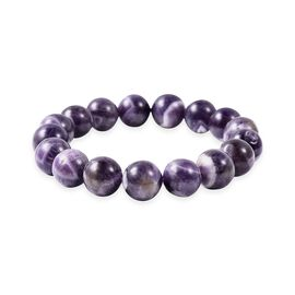 Extremely Rare 194 Carat Bi Color Amethyst Beaded Stretchable Bracelet 6.5 Inch