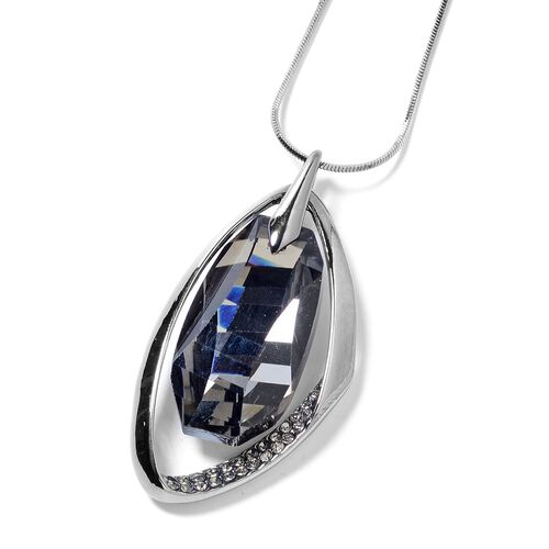 Grey Crystal Pendant With Chain (Size 30 with 2 inch Extender) 50.500 Ct.