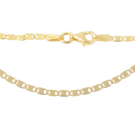 Italian Made Valentino Chain in 14K Gold Plated Sterling Silver 20 Inch