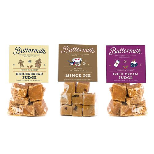 Buttermilk 3 x 100g Festive Bag Bundle ( Gingerbread, Irish Cream, Mince Pie)