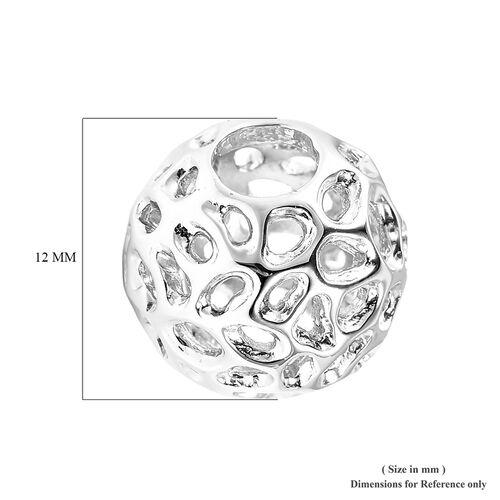 RACHEL GALLEY Rhodium Overlay Sterling Silver Globe Charm or Pendant