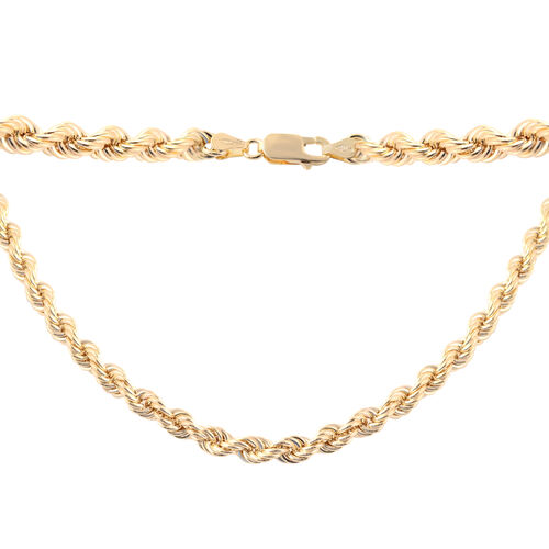 Laser Rope Bracelet in 9K Yellow Gold 6.20 Grams 8.5 Inch