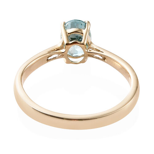 Blue Zircon (1.25 Ct) 9K Y Gold Ring  1.250  Ct.