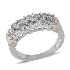 9K White Gold Natural White Diamond Ring 1.00 ct, Gold Wt. 4.50 Gms