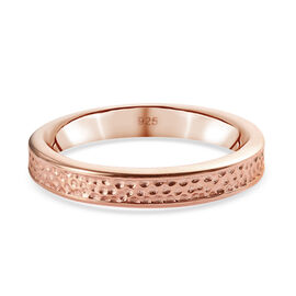 Rose Gold Overlay Sterling Silver Band Ring