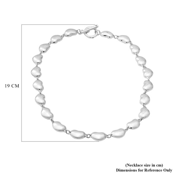 Designer Inspired - Sterling Silver Heart Link Necklace (Size 19.5), Silver wt. 38.60 Gms