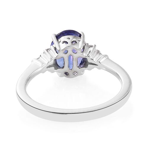 RHAPSODY 950 Platinum 2.05 Ct AAAA Tanzanite Ring with Diamond (VS/F), Platinum Wt. 5.03 gm