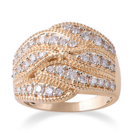 14K Yellow Gold Diamond (Rnd) Ring 1.00 Ct.