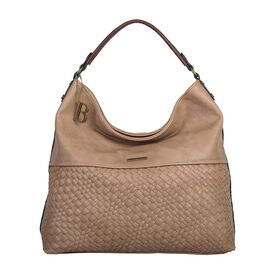 Bulaggi Collection- Bryon Hobo Shoulder Bag (Size 36x36x11 Cm) - Beige
