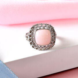 Sajen Silver Pink Opal Ring in Sterling Silver 15.00 Ct.