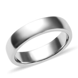 Platinum Overlay Sterling Silver Band Ring, Silver wt 3.72 Gms.