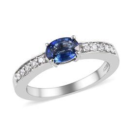 RHAPSODY 950 Platinum AAAA Rare Royal Ceylon Sapphire (Ovl 6.5x4.5 mm) and Diamond (VS/E-F) Ring 0.7