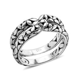 Royal Bali Collection Sterling Silver Daisy Flower Ring, Silver wt 6.30 Gms.