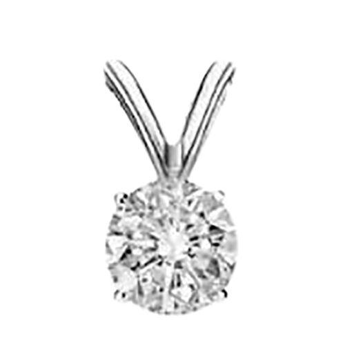 ILIANA 18K White Gold AGI Certified Brilliant Cut Diamond (SI/ G-H) Pendant 0.330 Ct.