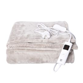 Deluxe Home Collection: Luxurious Heated Sherpa Blanket with Controller & Overheat Protection, Hand