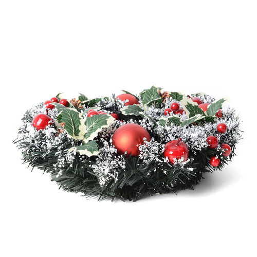 Xmas Decorations Christmas Wreath, Pine Nut, Red Balls and Cherry (Size  40 Cm)