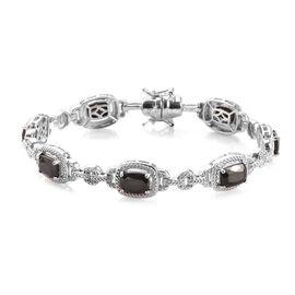 6.25 Ct Elite Shungite Station Bracelet in Platinum Plated 7.5 Inch
