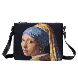 Brand New Arrival For TJC -SIGNARE - Tapestry J.Vermeer Girl with Pearl Earring Cross Body Bag ( 28