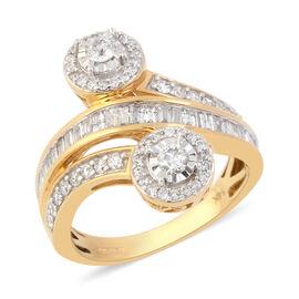 14K Yellow Gold Diamond (I2-I3/G-H) Ring 1.00 Ct, Gold wt 5.15 Gms
