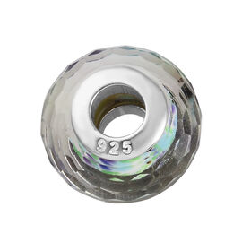 Charmes De Memoire Tropical Sea Murano Glass Bead Charm in Platinum Plated Sterling Silver